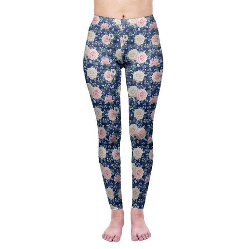 3D Series Rose Print Workout Leggings