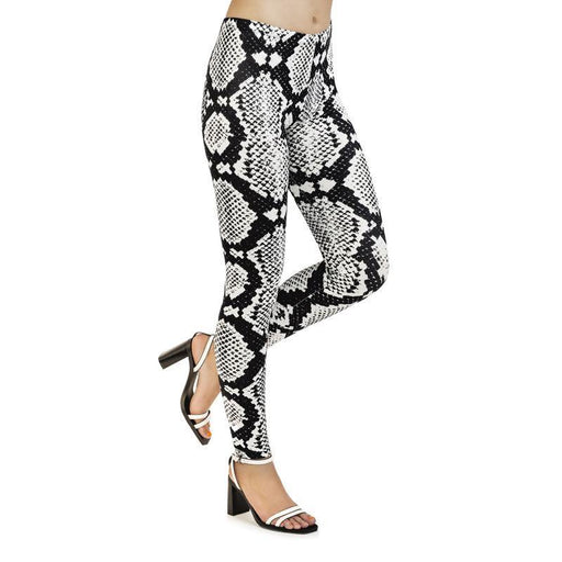 3D Series Snake Print Lifting Leggings