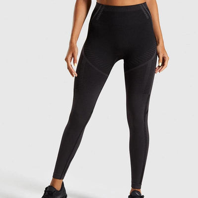 Fitness High Waist Elastic Seamless Yoga Pants Leggings - Ahanova Sports
