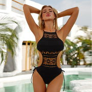 Sexy Hollow Out Design One Piece Swimsuit - Ahanova Sports