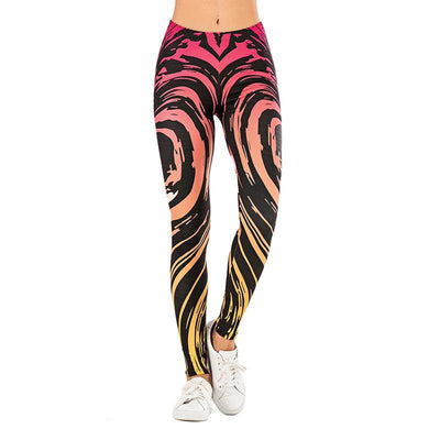 3D Series Zebra Print Fitness Stretchy Yoga Leggings - Ahanova Sports
