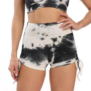 Tie Dyed Hip-lifting Sports Yoga Short Leggings - Ahanova Sports