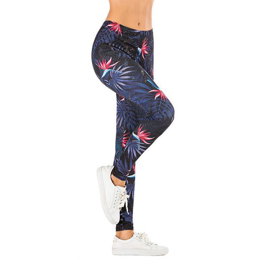 3D Series Forest Print Stretchy Fitness Leggings