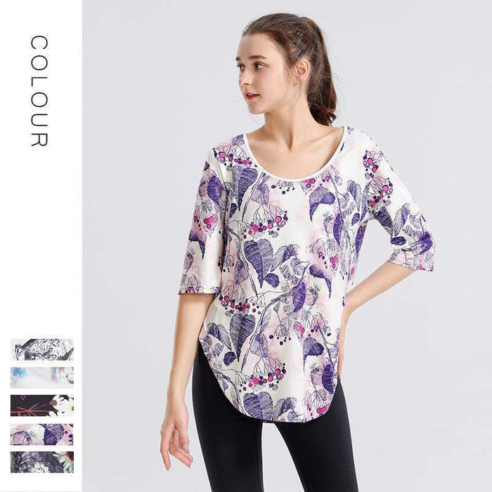 Printed Casual Trendy Quick Dry Training Shirt