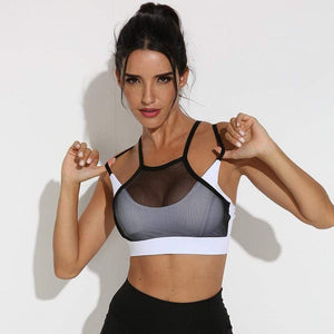 Sexy Mesh Compression-style Sports Bras - Ahanova Sports