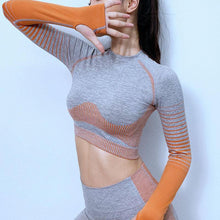 Load image into Gallery viewer, New Workout Sport Cropped Top Yoga Set - Ahanova Sports