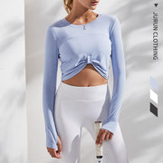 Quick-dry Tight Short Yoga Top - Ahanova Sports