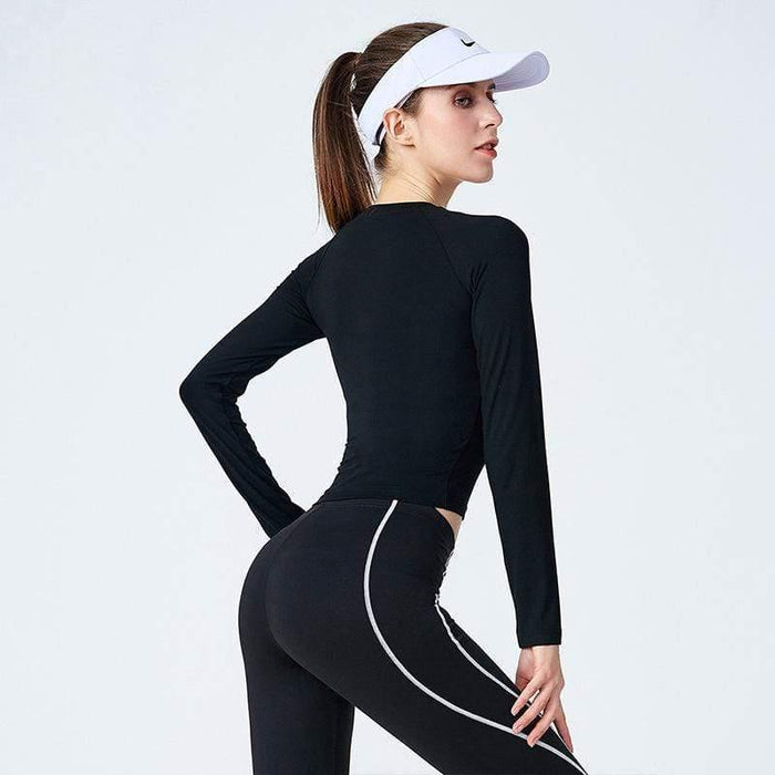 Elastic Fitness Seamless Yoga Shirt - Ahanova Sports