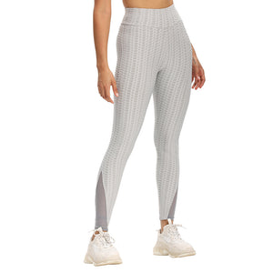 Booty Lift Anti Cellulite Stitching Mesh Design Leggings - Ahanova Sports