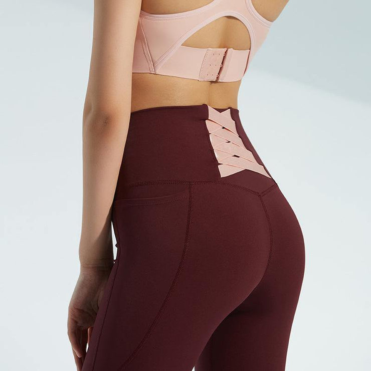 Fitness High Waist Yoga Legging - Ahanova Sports