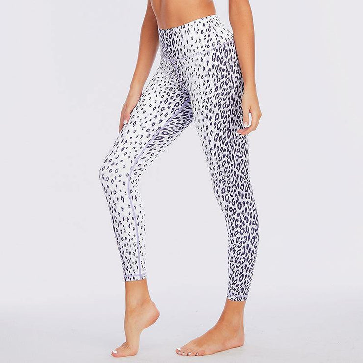 Leopard Print Workout Leggings With Pocket - Ahanova Sports