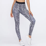 Zebra Pattern Quick-drying Printed Workout Leggings - Ahanova Sports