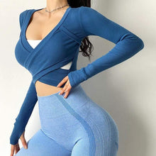 Load image into Gallery viewer, Stylish Tight Pure Colour Long Sleeve - Ahanova Sports