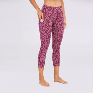 Leopard Print Peach Lifting Leggings Yoga Pants - Ahanova Sports