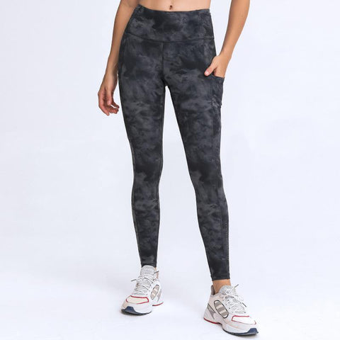 Stretch Double Side Brushed High Waist Stitched Pocket Sports Running Capris - Ahanova Sports