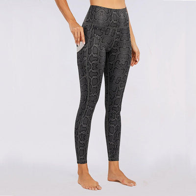 Snake Print High Waist Sports Lift Leggings - Ahanova Sports
