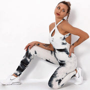 Tie-dyed Bubble Yoga Anti-Cellulite Suits - Ahanova Sports