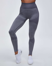 Load image into Gallery viewer, High Waist Compression Ribbed Texture Seamless Leggings - Ahanova Sports
