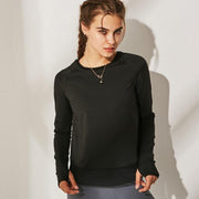 O-neck Mesh Yoga Back Split T-Shirt - Ahanova Sports