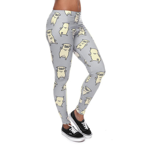 Unique Series Dog Print Workout Leggings