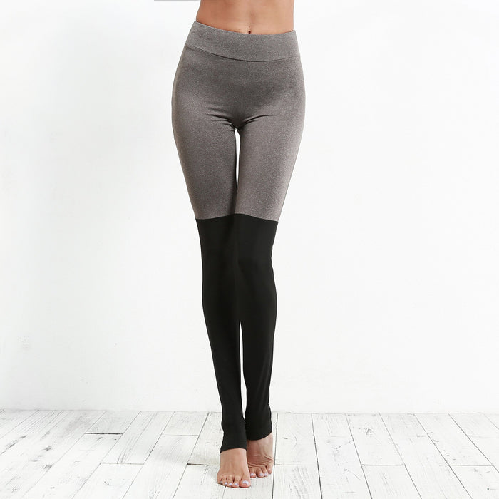 Stitching Stepping Leggings Yoga Pants - Ahanova Sports