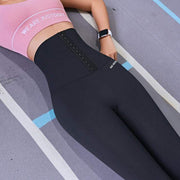 High Waist Elastic Corset Leggings - Ahanova Sports