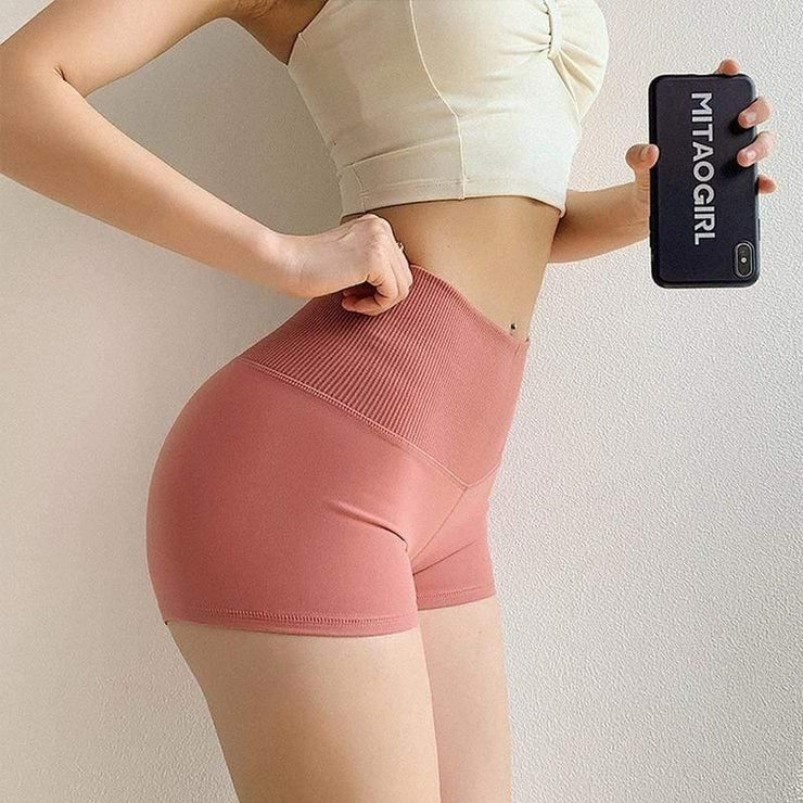 High Waist Quick-drying Shorts - Ahanova Sports