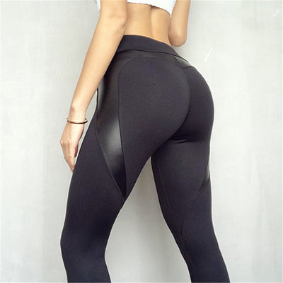 Love Peach Lift Leather Fitness Leggings - Ahanova Sports