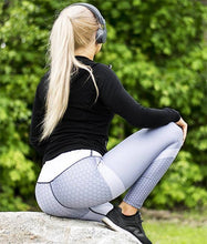 Load image into Gallery viewer, Contrast Panel Geometric Print Sports Leggings - Ahanova Sports