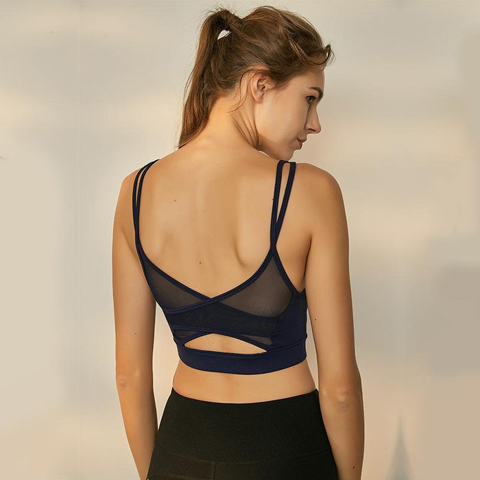 Hollow Breathable Sports Bra - Ahanova Sports