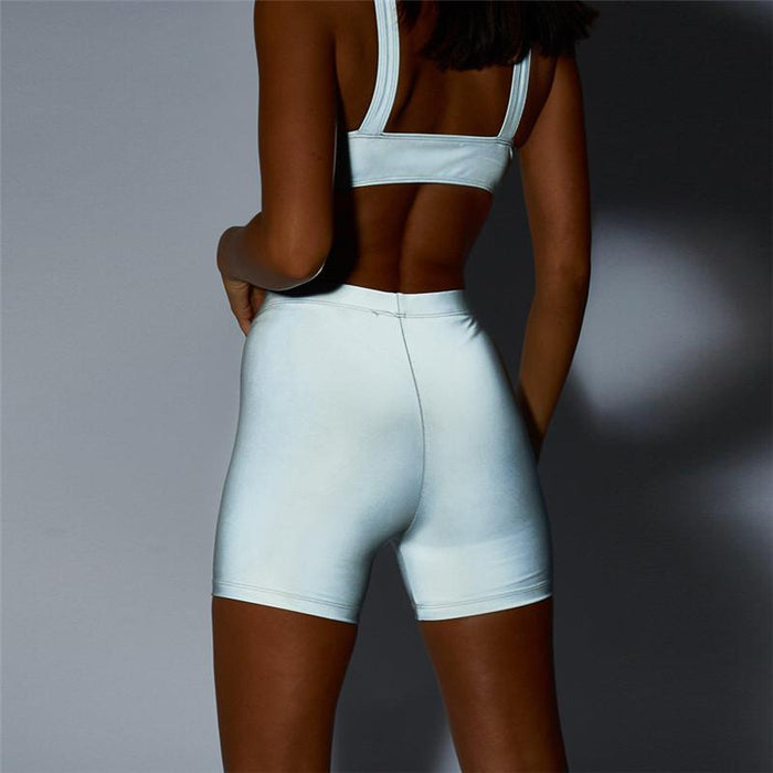 Reflective Fashion Design Active Shorts & Top Yoga Suits - Ahanova Sports