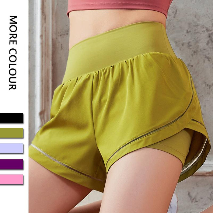 Two-piece Shorts Yoga Bottom