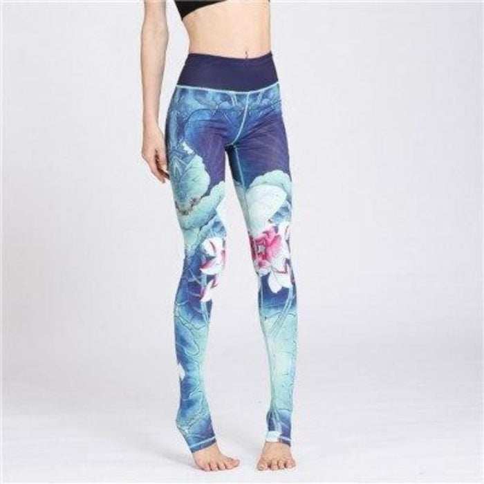 Ink Painting Yoga Scrunch Leggings - Ahanova Sports