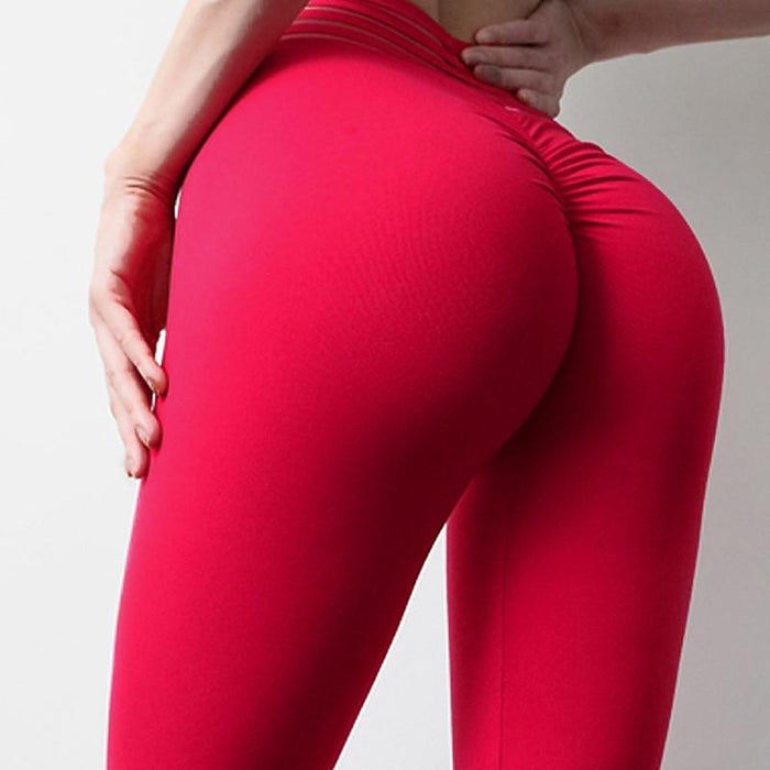 High Waist Scrunch Butt Leggings - Ahanova Sports