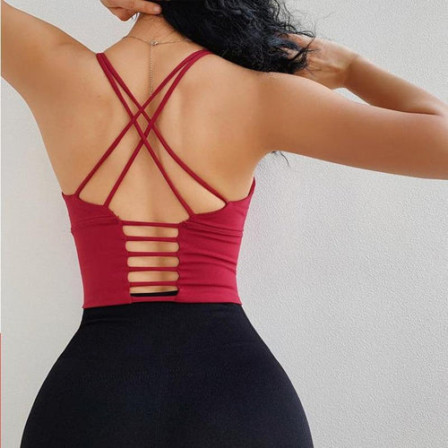 Sexy Backless Shockproof Bra - Ahanova Sports