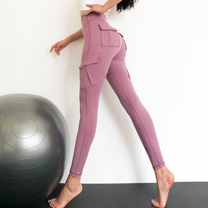 Stretch-fit Hip Leggings With Pockets - Ahanova Sports