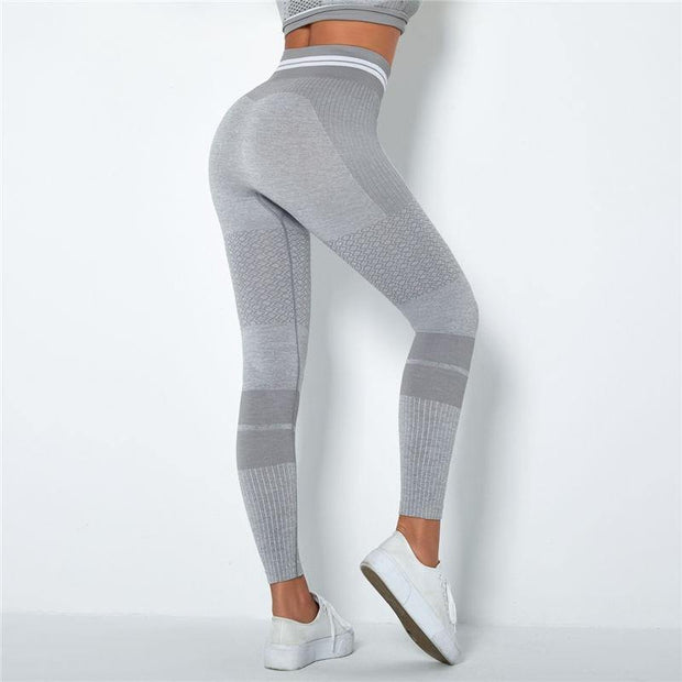 High Waist Energy Quick Drying Breathable Workout Leggings - Ahanova Sports