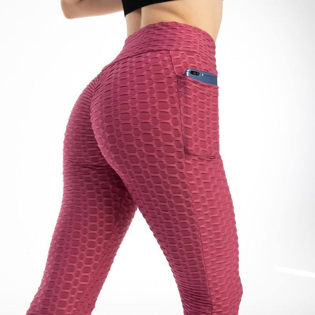 Anti-Cellulite Booty Lift Leggings With Pockets - Ahanova Sports