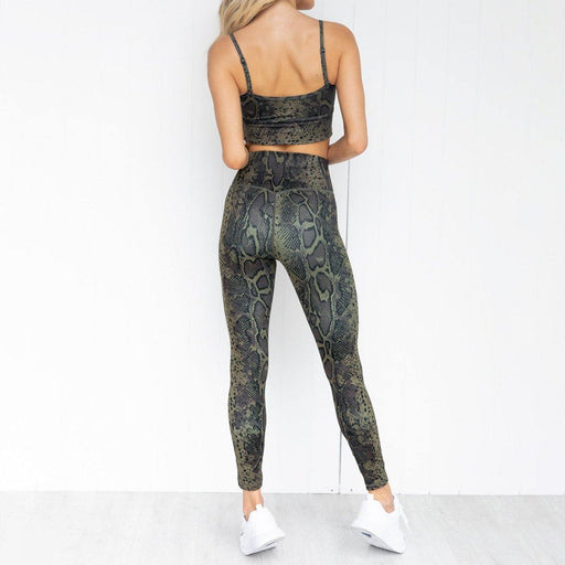 Tight Printed Vest Sports Fitness Yoga Set