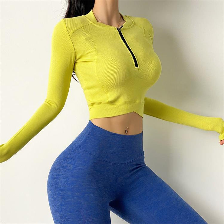 Sexy Pure Colour Fitness Long Sleeve - Ahanova Sports