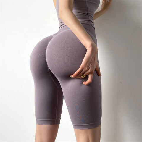 High Waist Elastic Tight Yoga Short Leggings - Ahanova Sports