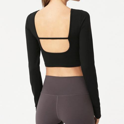 Backless Tight Long Yoga Sleeve - Ahanova Sports