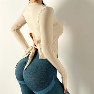 Sexy Trendy Yoga Long Sleeve - Ahanova Sports