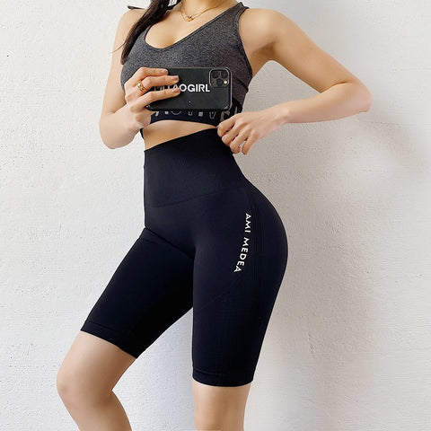 Breathable High Waisted Eastic Riding Shorts - Ahanova Sports