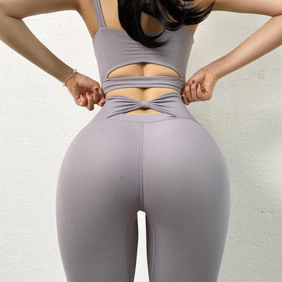 High Waist Pure Colour Yoga Legging - Ahanova Sports