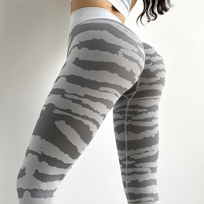 High Waist Skinny Quick-drying Yoga Leggings - Ahanova Sports