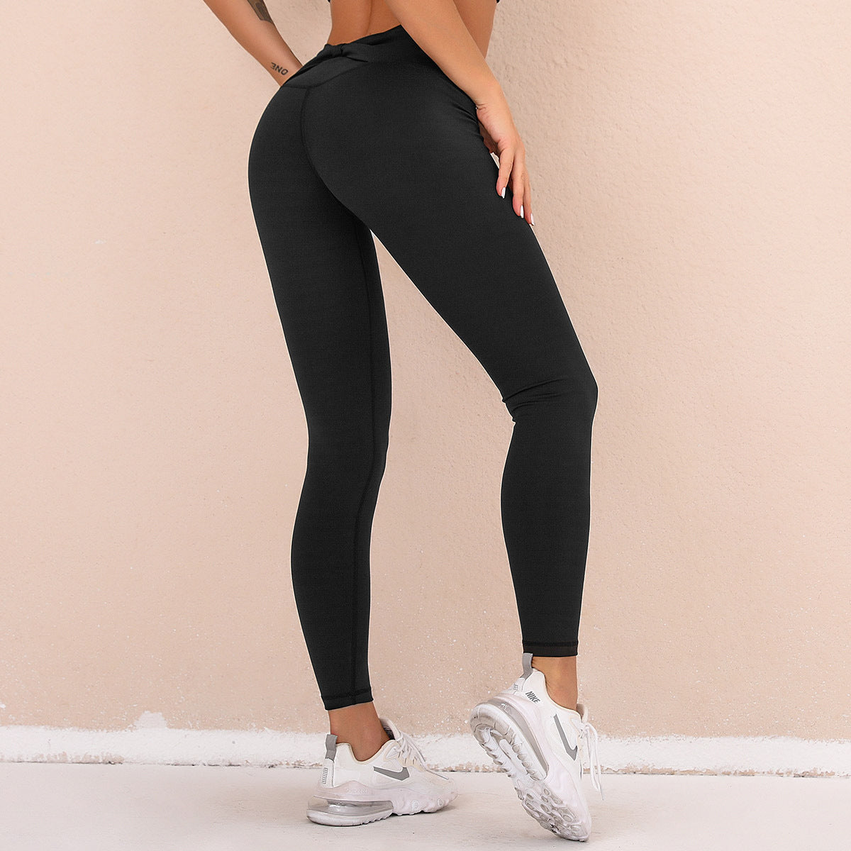 Bow Design Tight Elastic Sports Leggings - Ahanova Sports
