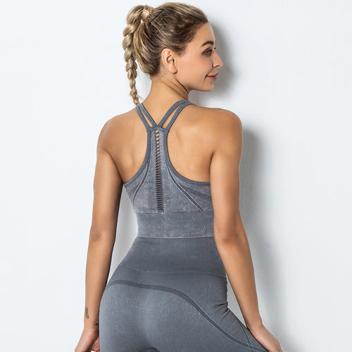 Shock-proof Gathering Beauty Back Sports Bra - Ahanova Sports