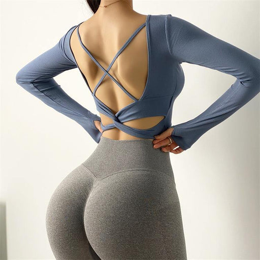 Sexy Quick-Dry Backless Long Sleeve