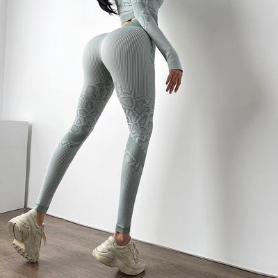 Tight High Waist Printed Leggings - Ahanova Sports